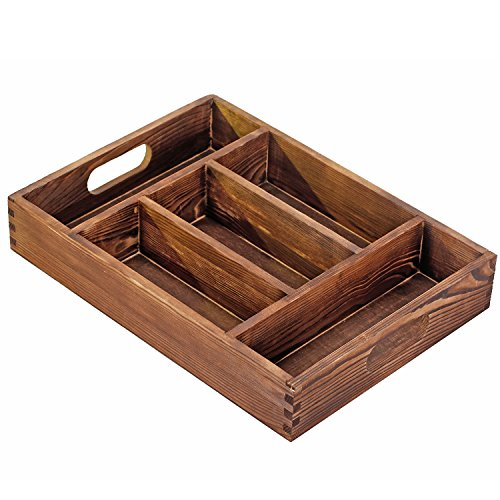 Torched Compartment Tabletop Organizer Storage