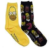 The Simpsons Homer Mens Casual Crew Sock Set Pack of 2