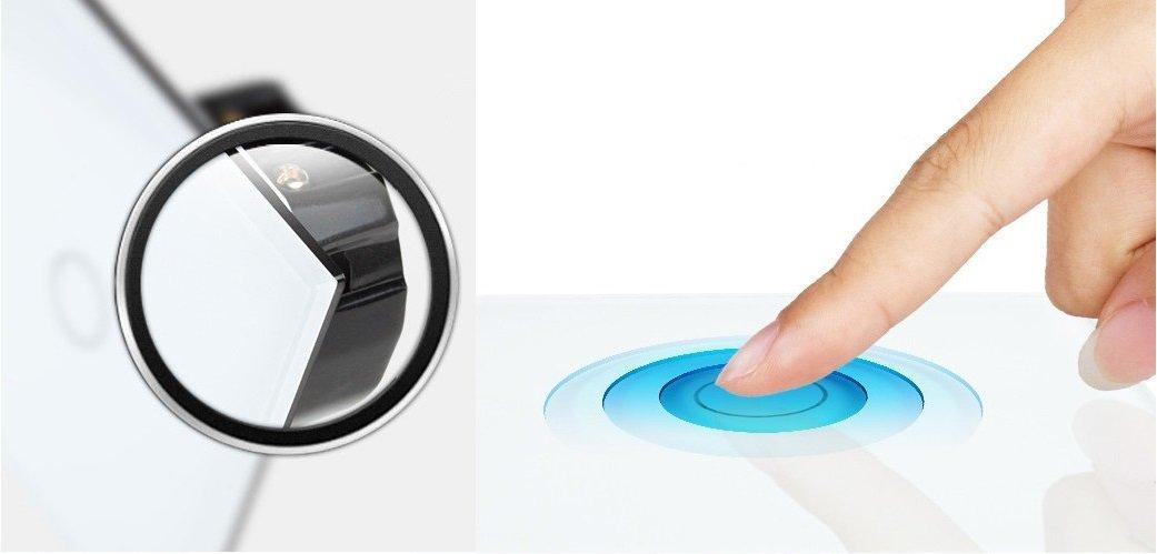 Wechselschalter Kreuzschalter Glas Touchscreen Lichtschalter VL ...