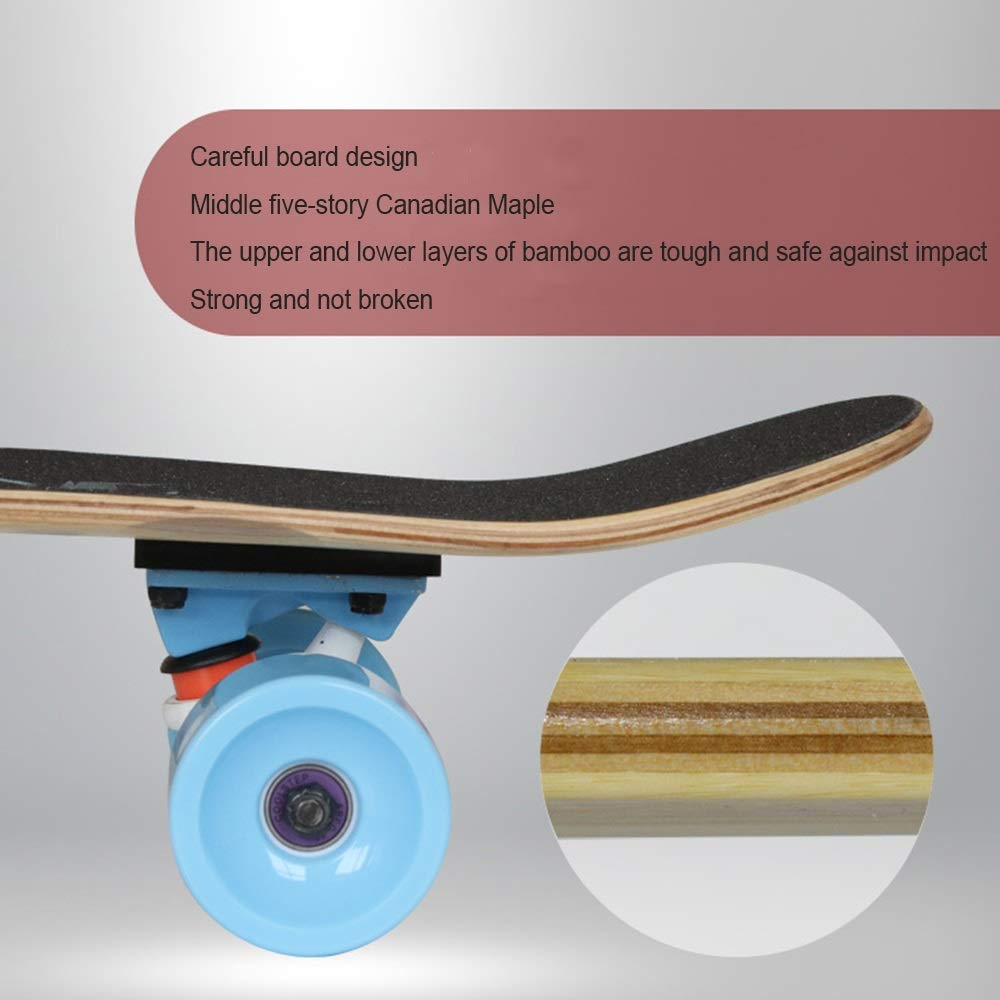 Amazon.com : Beginner Skateboarding Four-Wheeled Adult Road Boys and Girls Skateboard (Color : A) : Sports & Outdoors