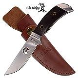 Elk Ridge ER-568BW Fixed Blade Knife, Black Wood, 8.5″ Review