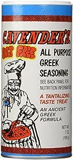 product image for Cavenders All Purpose Greek Seasoning, Salt Free(No MSG), CASE (12x7oz)