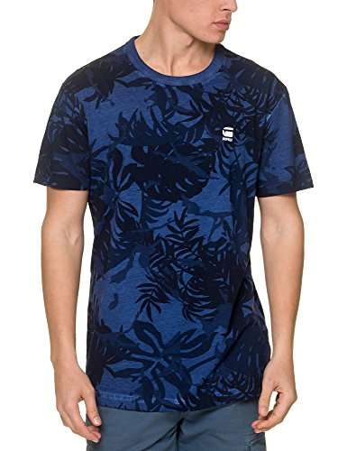 G-Star Men's Relax Men's Blue T-Shirt in Size S Blue by G-Star Raw