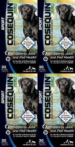 Nutramax Cosequin ASU Sport for Dogs 120ct (4 x 30ct)