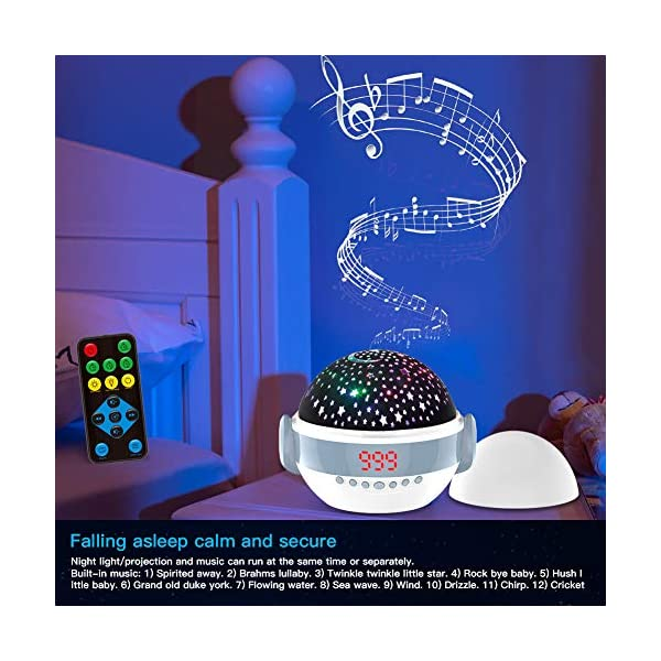 Baby Projector Night Light with Music,