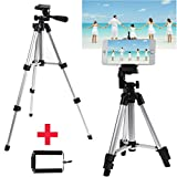 TONGROU Professional Camera Tripod Stand + Phone Holder for Smartphone iPhone Samsung