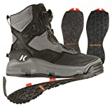 Korkers Mens Darkhorse Fishing Boots with Kling-On, Color: Black/Gunmetal, Size: 10 (FB4710-10)