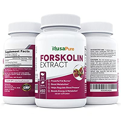 Forskolin for Weight Loss: Pure Coleus Forskohlii Extract: Powerful Belly Buster and Fat Burner: All Natural Weight Loss Supplement and Pills: All Natural Fat Burner: 100% Satisfaction Guarantee