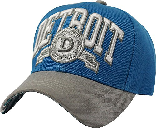 ChoKoLids Unisex Detroit Team Color City Name Embroidered Baseball Cap Hat