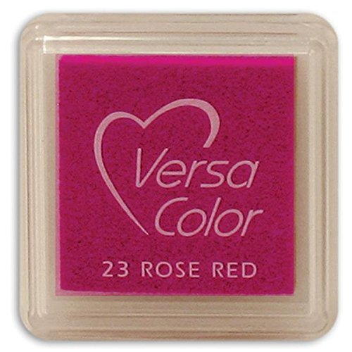 Tsukineko Small-Size VersaColor Ultimate Pigment Inkpad, Rose Red