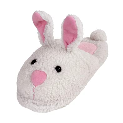 19687e04ae02 Classic Bunny Slippers - Plush Rabbit Animal Slippers - (Small) White