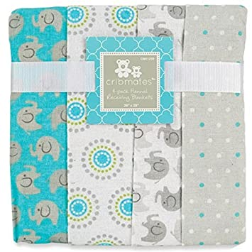 Amazon.com : Cribmates Flannel Receiving Blankets - Boy by Crib Mates : Baby