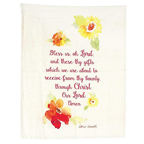 Dicksons Bless Us Oh Lord Amen Flower Wreath All Cotton 18 x 22 Kitchen Tea Towel Pack of 2