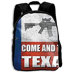 AR-15 Come And Take It Texas Kids Printing Bag Travel Elementary Summer Camp Outdoors