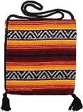 Peyote Style Popular Fiesta Carry On Shoulder Bag . Beautiful Hand-Woven Acrylic Mexican Peyote Design in Vivid Colors (Fiesta J)
