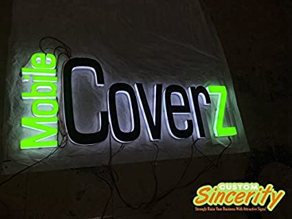 Amazon com : Customized Acrylic sign letters Led channel