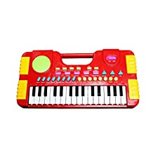 Kids Piano,Sanmersen 31 Key Synthesizer Multi-function Keyboard Play Piano Electronic Organ Educational Toy for Children (Red)