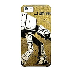 Hard Plastic Iphone 5c Case Back Cover,hot Star Wars Atat Atst I Am Your Father Wallpaper Case At Perfect Diy