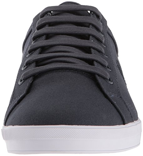 Fred Perry Men's Baseline Canvas Sneaker, Grey Graphite
