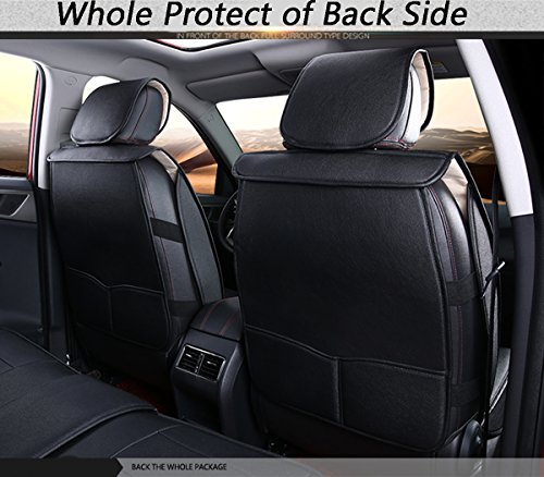 inch empire adjuatable easy to clean pu leather car seat cushions 5 seats full set anti slip. Black Bedroom Furniture Sets. Home Design Ideas