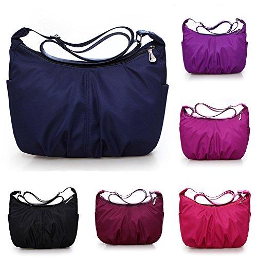 Boho Bags Dark Messenger Small Handbag Women's Shoulder Nylon Blue Bags��Waterproof Tote Bag Body Cross SqHwgXx1R
