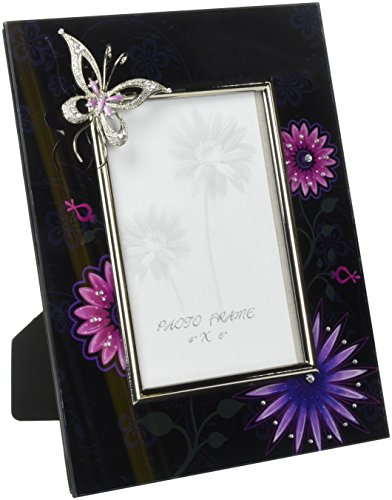 ARTICO SS-A-63477 Picture Frame with Butterfly, Fantasy Black -