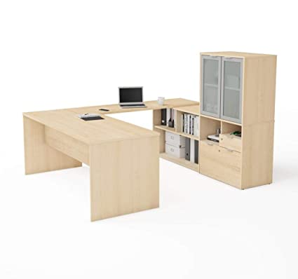 Image Unavailable. Image Not Available For. Color: Bestar U Shaped Desk ...