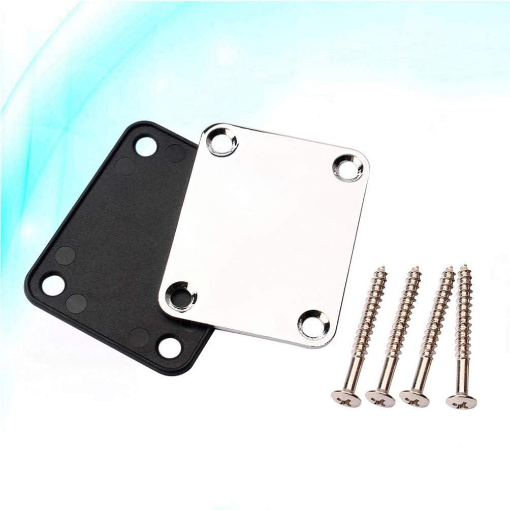 EXCEART placa de m/ástil de guitarra con tornillos 4 agujeros reemplazo de partes de jazz de guitarra el/éctrica