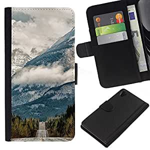 KingStore / Leather Etui en cuir / Sony Xperia Z2 D6502 / Strada gratuito