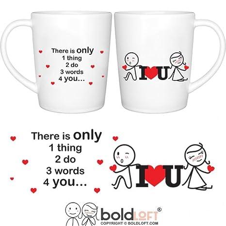 amazon com boldloft 3 words for you couple coffee mugs couple gifts