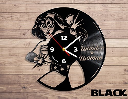 ArtGrain.pro Wonder Woman vinyl record wall clock