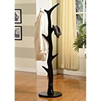 K & B Furniture Wooden Tree Coat Rack - 65H in.
