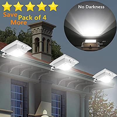 USYAO Solar Powered LED Spot Light IP44 Waterproof Separated Panel and Light with Adjustable Angle and 3 Modes Brightness Illuminate Your Garden Courtyard
