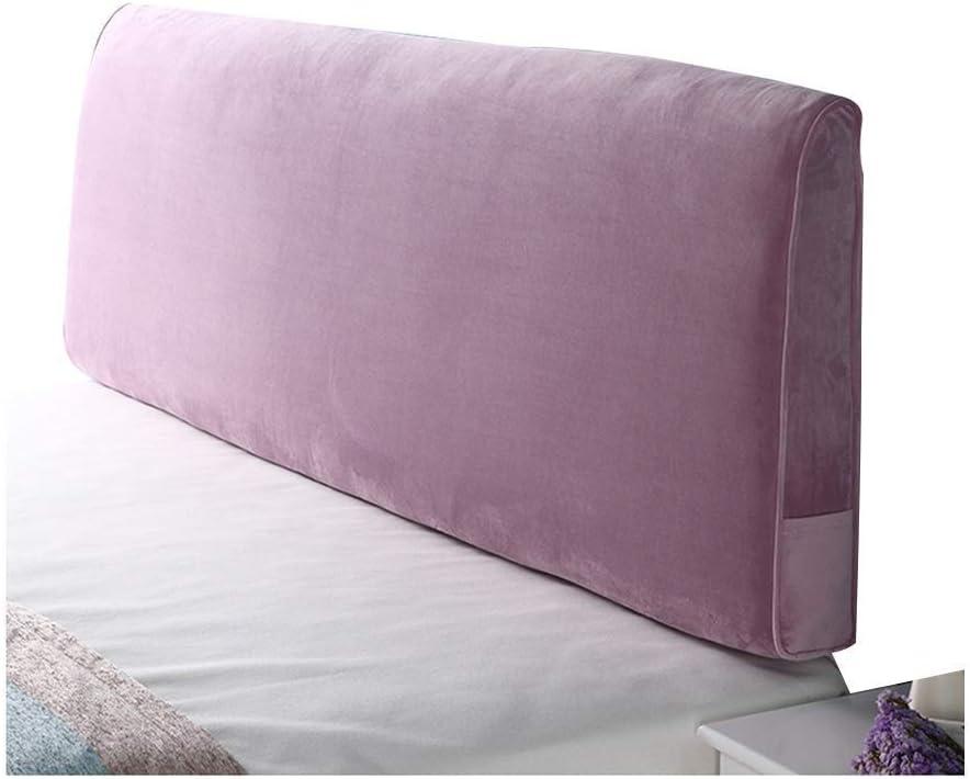 CCSU Coussin Tête de lit Coussin Dossier Mural rempli de Velcro Doux et Confortable Lavable A + (Couleur: B, Taille: 200cm) B0