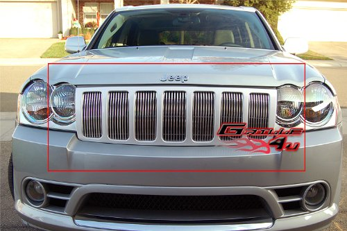 APS Compatible with 2006-2008 Jeep Grand Cherokee Billet Grille Grill Insert #J66540V