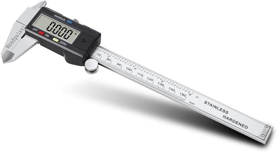 CALIBRE DIGITAL PIE DE REY VERNIER ACERO 150 mm: Amazon.es ...