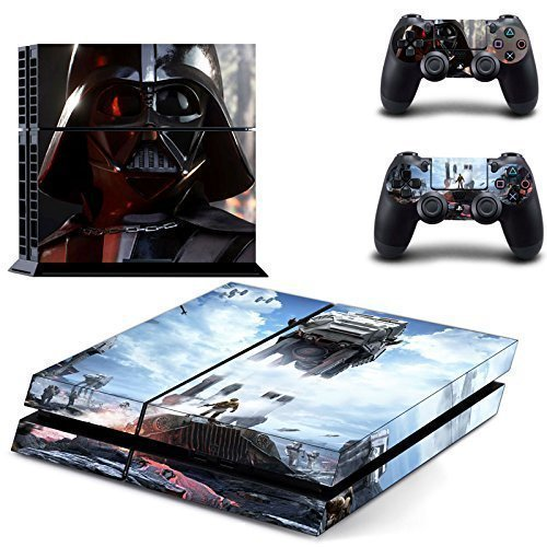 Star Wars Darth Vader Sony Playstation PS4 Vinyl Decal Skin Cover Stickers For Console and 2 Controllers - Star Wars BattleFront Style 2 Theme Skin