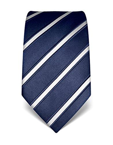 Vincenzo Boretti Men's Silk Tie - striped - many colors (Christmas Silk Necktie)