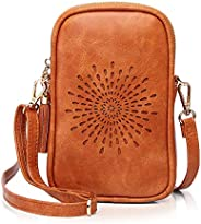 APHISON Small Crossbody Cell Phone Purse for Women Mini Messenger Shoulder Bag Wallet with Tassels 090-1
