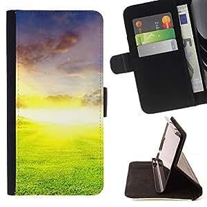 For Sony Xperia Z2 D6502 Case , Naturaleza Hermosa Forrest Verde 26- la tarjeta de Crédito Slots PU Funda de cuero Monedero caso cubierta de piel
