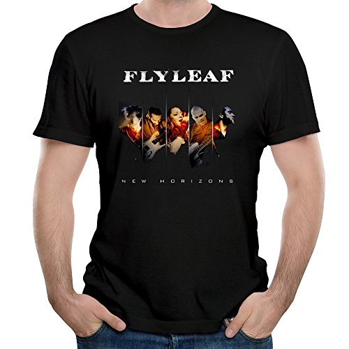 Roy Men's Flyleaf Band Song Fully Alive Graphic Tee Shirt Black