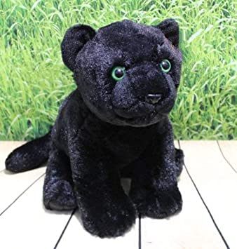 Amazon Com 11 Sitting Black Jaguar Plush Stuffed Animal Doll Toys