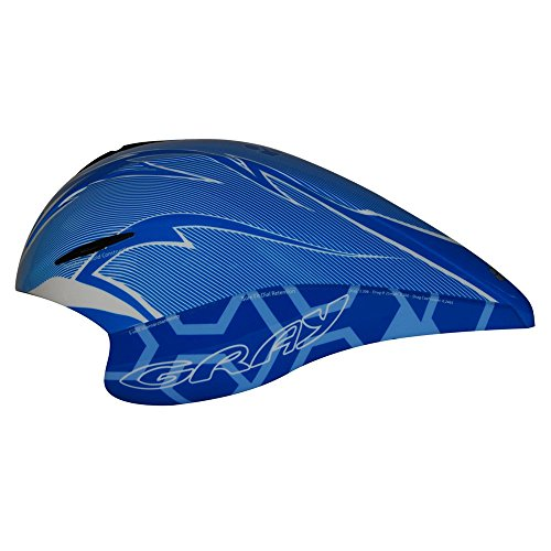 Gray Triathlon/Time Trial TT Aero Helmet - Blue (Best Aero Tt Helmet)