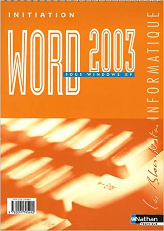 Télécharger en ligne Word 2003 : Initiation sous Windows XP epub pdf