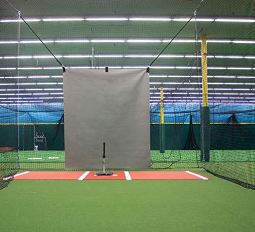 (5 x 6 Heavy Duty Vinyl Baseball Batting Cage Backstop - (Gray))