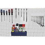 Peg Hook Kit 30 pc 12 J Hooks 12 L Hook & 6 Tool Holders & Large Plastic Bin - Pegboard Assortment Organizer- FREE SHIPPING Peg Board Storage System