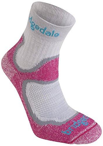 Bridgedale Comfort Trail Sock (Bridgedale Women's Coolfusion Run Speed Trail Socks, Dusky Pink, Small)