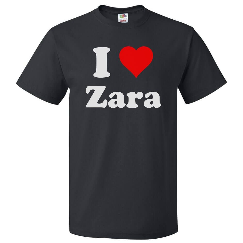 new collection reasonable price excellent quality Amazon.com: ShirtScope I Love Zara T shirt I Heart Zara Tee ...