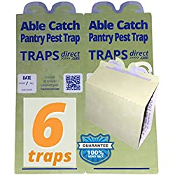 6 Pantry Moth Traps | USA Made | Safe Pheromone Lure | Guaranteed