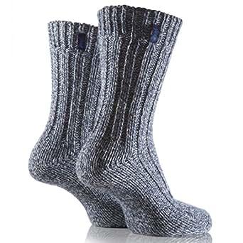 Jeep Women's 2 Pair Wool Mix Boot Sock Blue/Cream